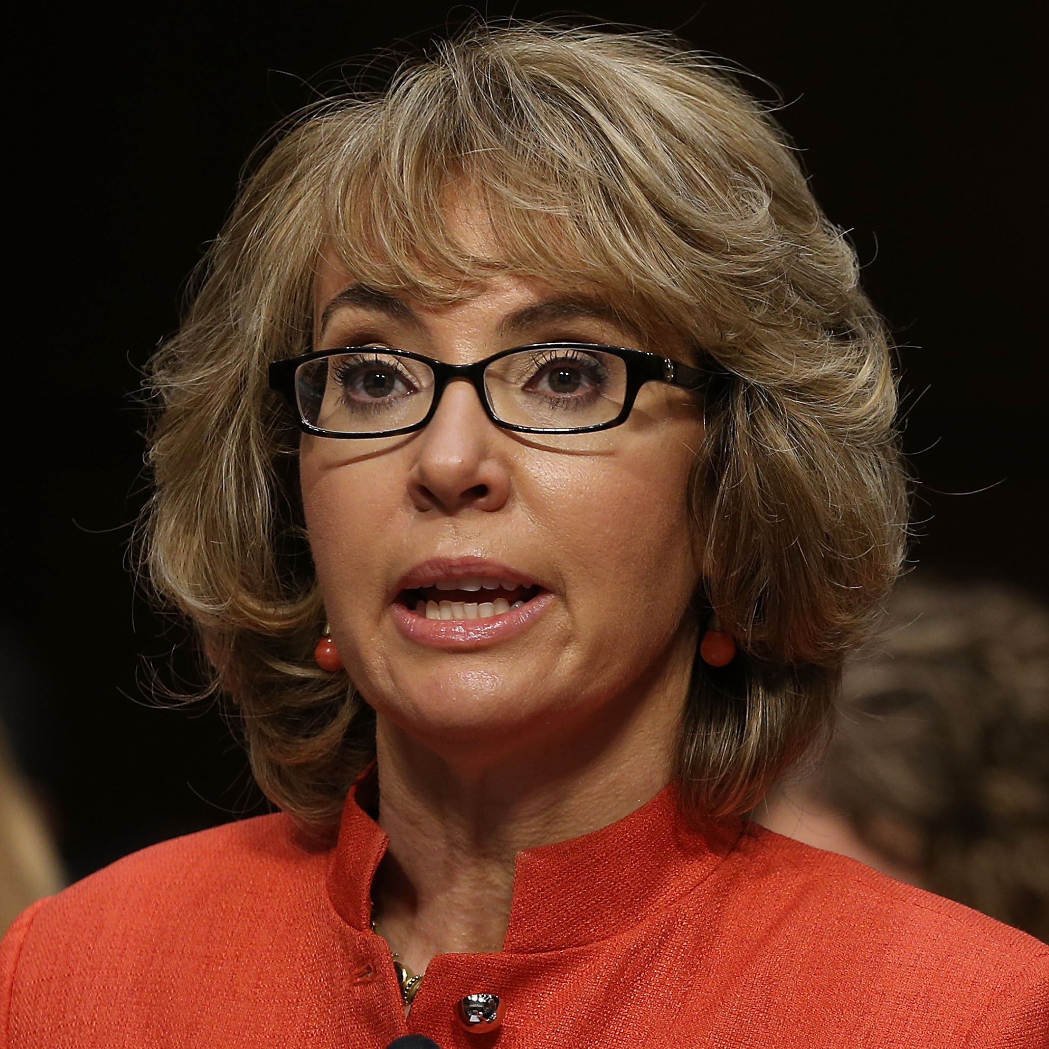Former Rep. Gabrielle Giffords, D-Ariz., during Wednesday's Senate hearing on gun violence.