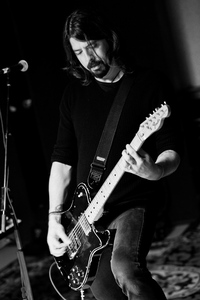 Grohl is the happy, hectic force at the musical core of <em>Sound City</em>.