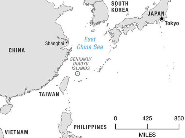 The Senkaku Islands, as they are called in Japan, sit in a strategic location between Okinawa and Taiwan. (Matt Stiles/NPR)