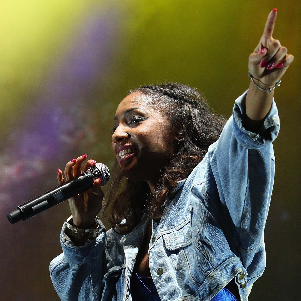 American singer Wynter Gordon performs live at the Clipsal 500, which is round one of the V8 Supercar Championship Series, at the Adelaide Street Circuit on March 2, 2012 in Adelaide, Australia.