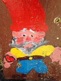 An anonymous artist started placing the hand-painted gnomes on the bases of utility poles all over Oakland.