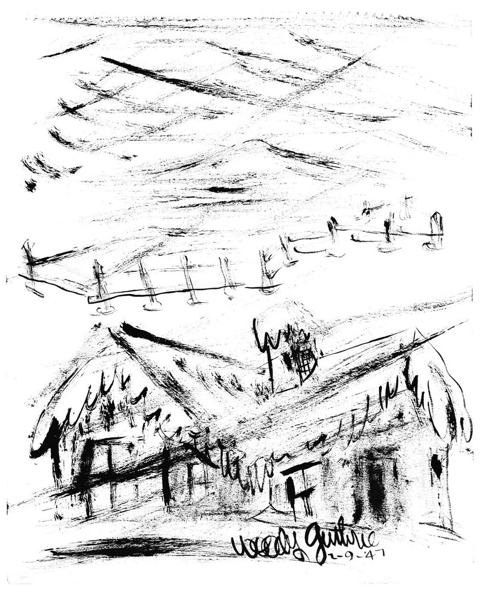 """Snow,"" 1947 (Courtesy Woody Guthrie Archives. Copyright Woody Guthrie Publications, Inc.)"