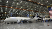 A Boeing 787 under construction inside a production facility at a Boeing plant in Everett, Wash., last year.