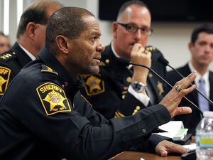 Milwaukee County Sheriff David Clarke has advised residents in a new PSA that they should consider taking a firearm safety course to defend themselves in a crisis as they wait for police to arrive