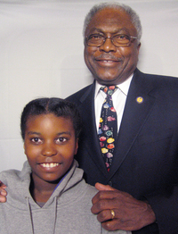 U.S. Rep. James Clyburn explains the hope he carries along with him in his career to his granddaughter Sydney Reed.