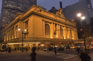 """Grand Central Terminal was the first building ever saved under [the landmarks] conservancy act,"" explains tour guide Daniel Brucker."