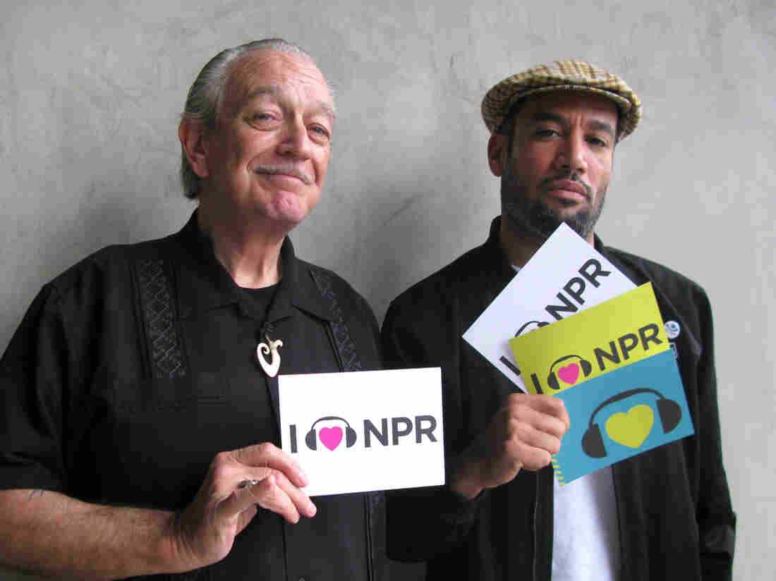 Ben Harper and Charlie Musselwhite at NPR West.