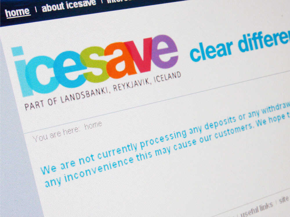 Icesave computer screen