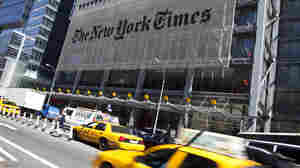The New York Times'  headquarters building in New York City.
