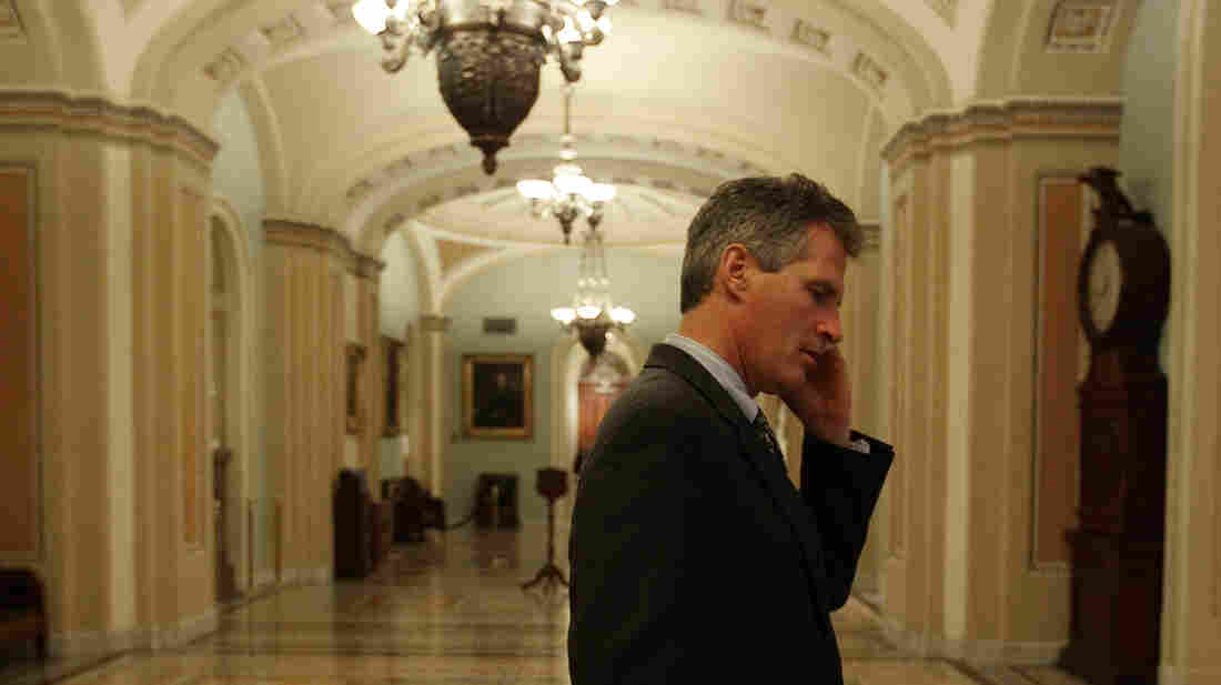Republican Scott Brown, shown here on Capitol Hill in 2010 not long after coming to the Senate in a special election, announced Friday that he won't run in this year's special election in Massachusetts to replace Democrat John Kerry.