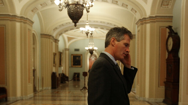 Republican Scott Brown, shown here on Capitol Hill in 2010 not long after coming to the Senate in a special election, an