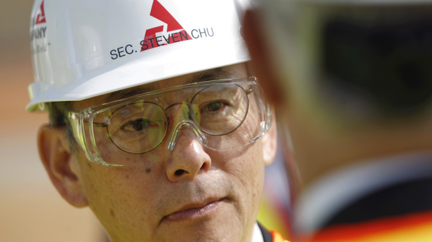 Energy Secretary Steven Chu tours the Vogtle nuclear power plant in Waynesboro, Ga., last year. (AP)