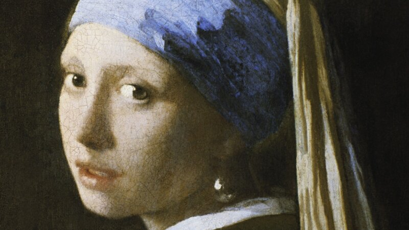 mood of girl with a pearl earring painting