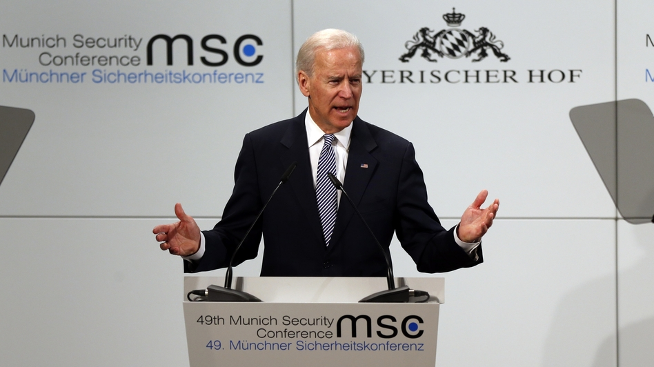 Vice President Joe Biden speaks during the Security Conference in Munich, Germany, on Saturday. (AP)