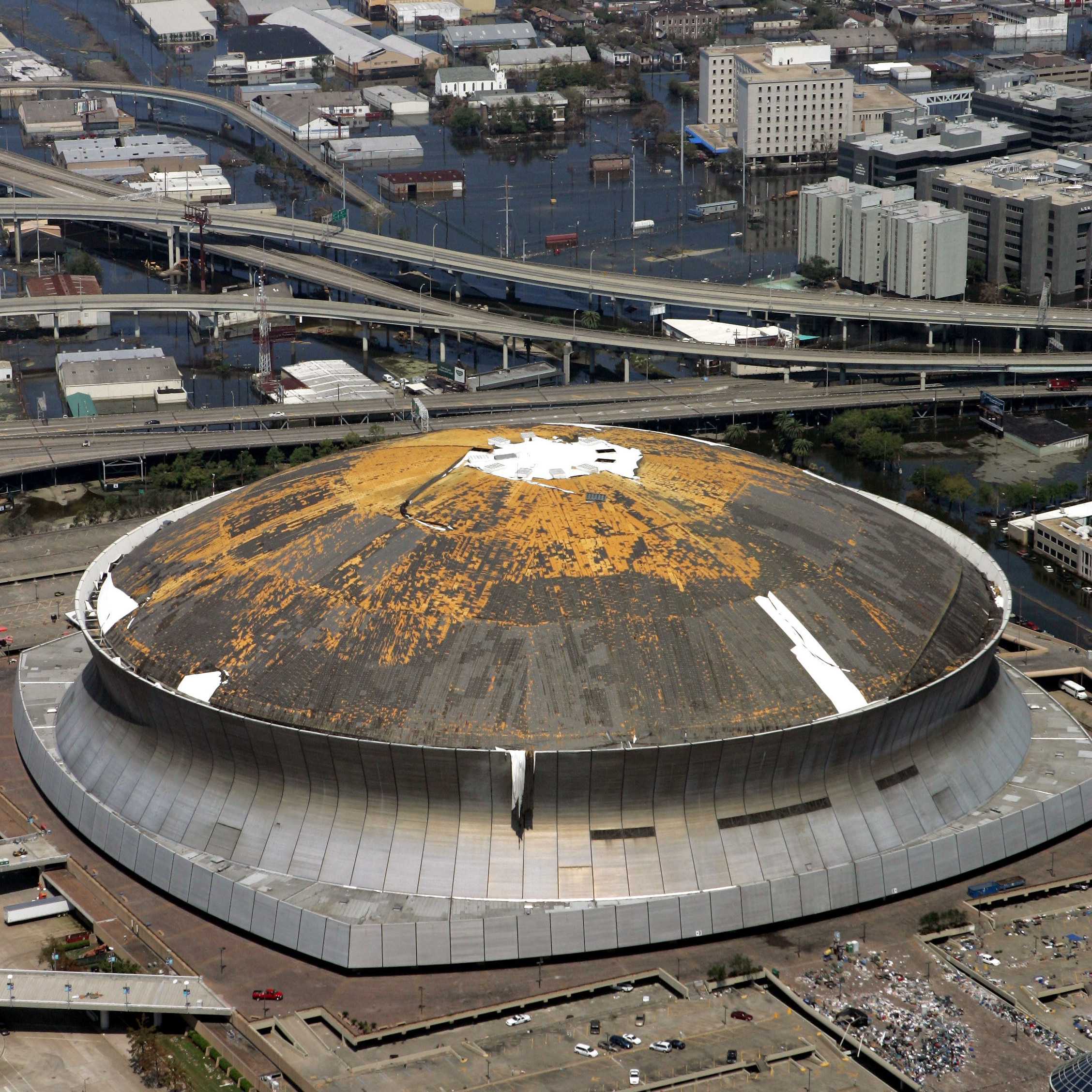 "The Superdome provided shelter for victims of Hurricane Katrina in 2005, but was described as a ""hellhole."""