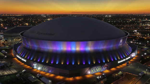 The San Francisco 49ers play the Baltimore Ravens in Super Bowl XLVII at the Superdome in New Orleans on Sunday. (AP)