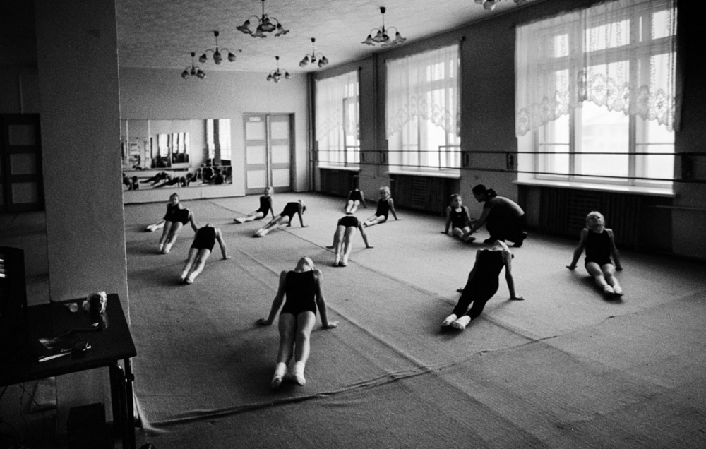 Ballet class in the cultural center of the city.