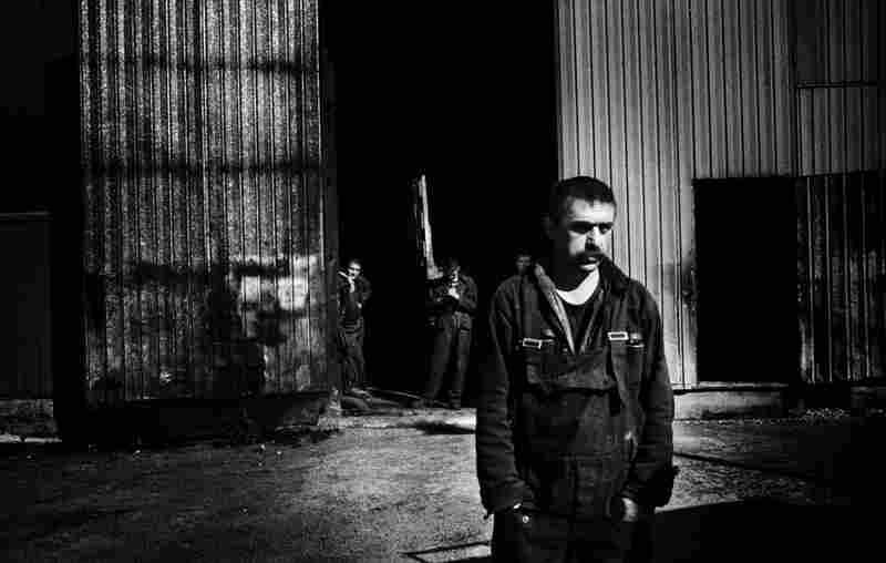 Mechanical worker outside Vorkuta.