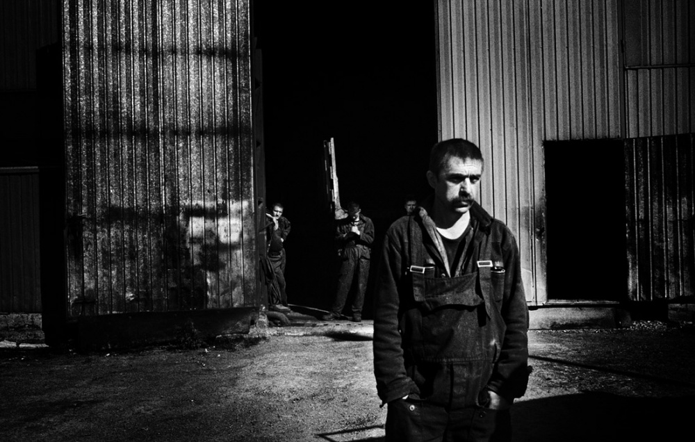 Mechanical worker outside Vorkuta.