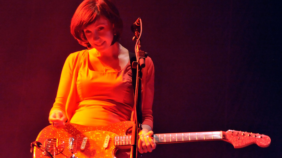 My Bloody Valentine's Bilinda Butcher during the band's set at Coachella in 2009. (Getty Images)