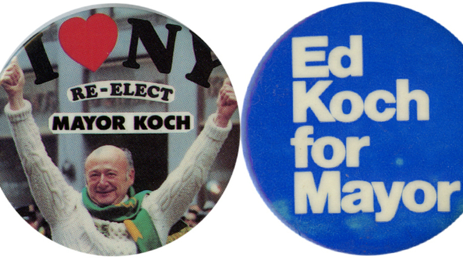Koch served as mayor for three terms (1978-89). (Ken Rudin collection )