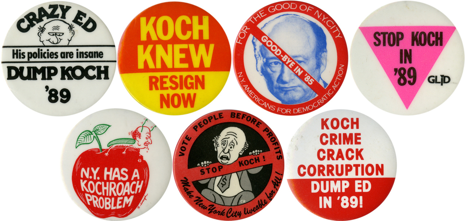 As the city faced new problems, Koch's popularity sunk in the later years of his tenure. (Ken Rudin collection )