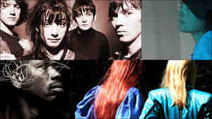 Clockwise from upper left: Early photo of My Bloody Valentine, Grouper, The Knife, Ballake Sissoko.