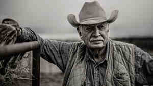 """A still from the Super Bowl ad, """"God Made a Farmer"""""""