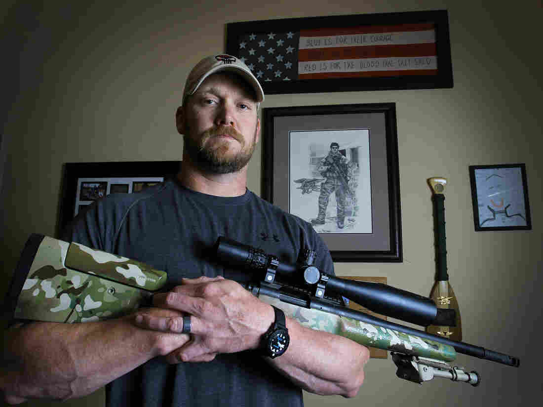Chris Kyle, retired Navy SEAL and bestselling author of the book American Sniper: The Autobiography of the Most Lethal Sniper in U.S. Military History, in April 2012. He was killed Saturday.