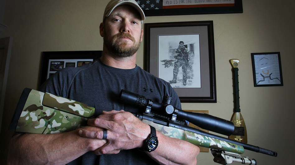 Chris Kyle, retired Navy SEAL and bestselling author of the book American Sniper: The Autobiography of the Most Lethal Sniper in U.S. Military History, in April 2012. He was killed Saturday. (MCT /Landov)
