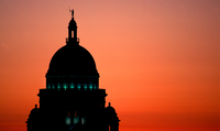 Democrats have dominated Rhode Island's Capitol building in Providence for decades. One state Republican says it's an
