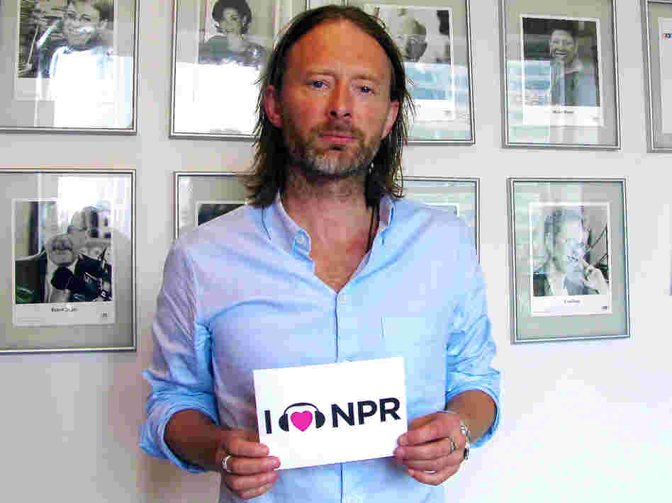 Thom Yorke at NPR's New York Bureau.