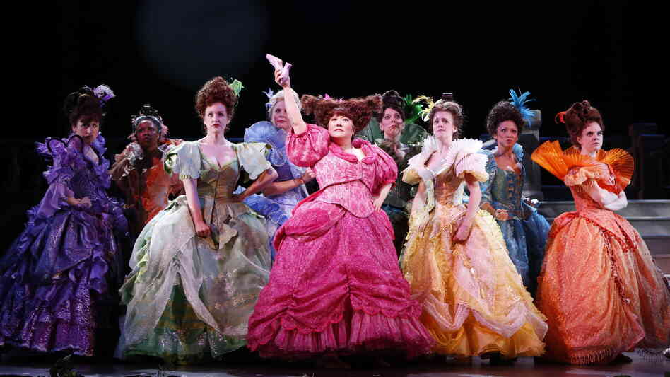 Actress Ann Harada (in pink) returns to the stage in the Broadway premiere of Rodgers & Hammerstein's Cinderella, an update of the made-for-TV movie from 1957. Her other theater work has included Avenue Q and Les Miserables.