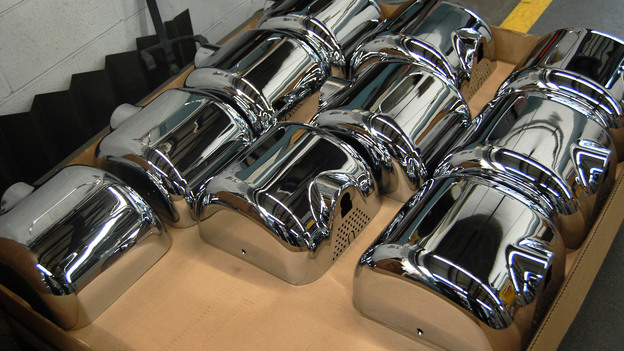 The Xlerator hand dryer is made almost entirely of American components and assembled in Massachusetts. But the company's owner says it's simply not cost-effective to use an American-made motor. (NPR)