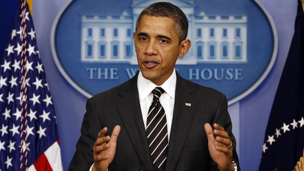 President Obama at the White House on Tuesday. (Reuters /Landov)