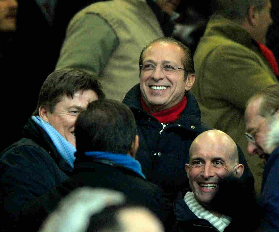Paolo Berlusconi looks on during the Serie A match between AC Milan and FC Internazionale Milano in 2012.
