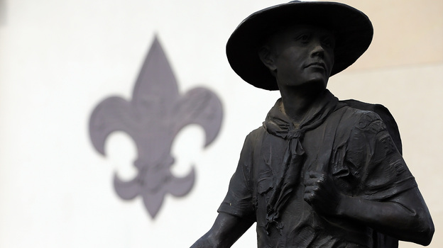 A statue outside the National Scouting Museum in Irving, Texas. (Getty Images)
