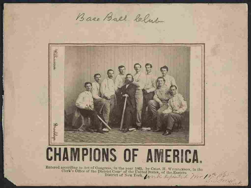 The Library of Congress' version of the rare Brooklyn Atlantics baseball card.
