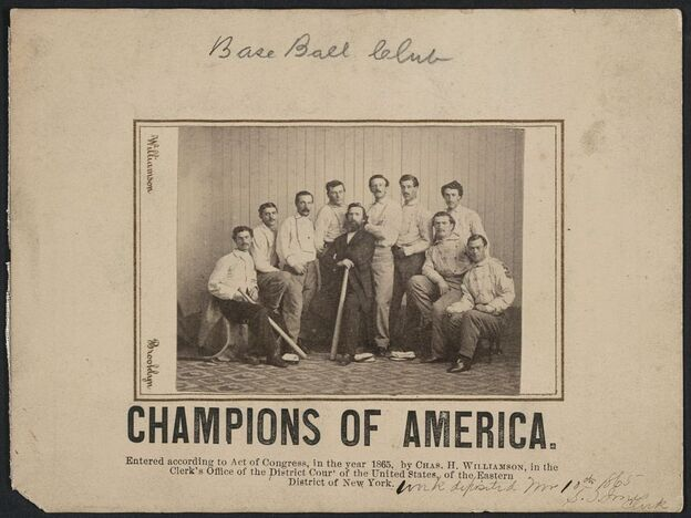 The Library of Congress' version of the rare Brooklyn Atlantics baseball card.