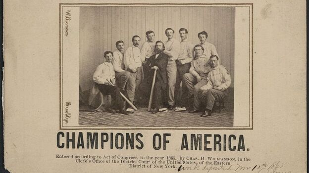The Library of Congress' version of the rare Brooklyn Atlantics baseball card. (Library of Congress)