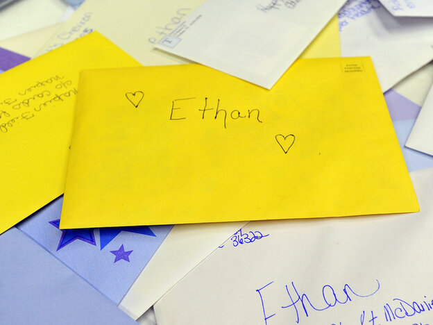 Birthday cards for Ethan have been arriving at the town hall in Napier Field, Ala