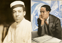 Langston Hughes' first publicity photo, taken in 1925, showed him as a bellhop. The same year, German painter Winold Reiss depicted a more sophisticated, powerful Hughes.