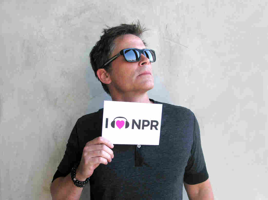 Rob Lowe at NPR West.