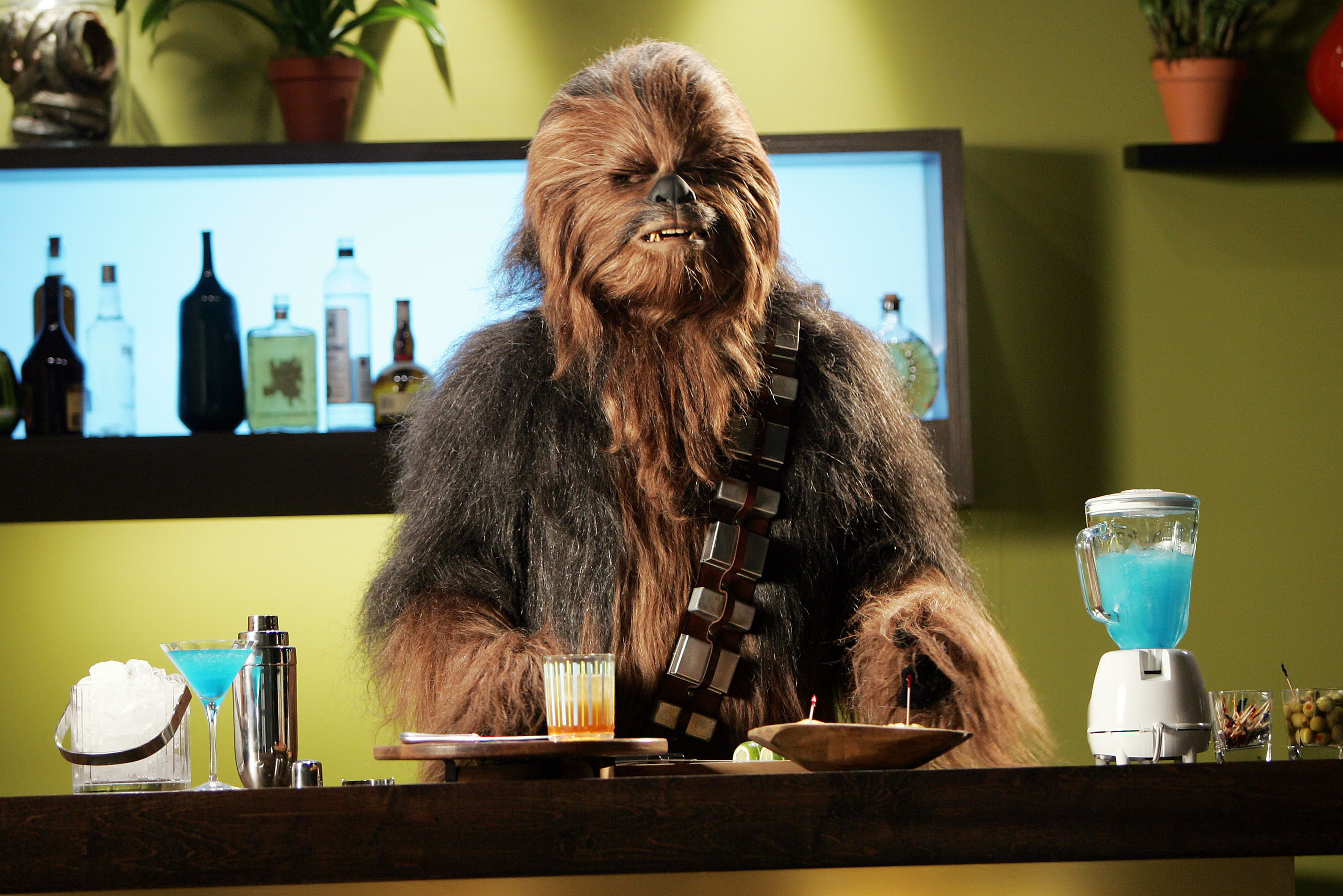 Chewbacca, the furriest of the Star Wars rebels that Freeborn helped create.