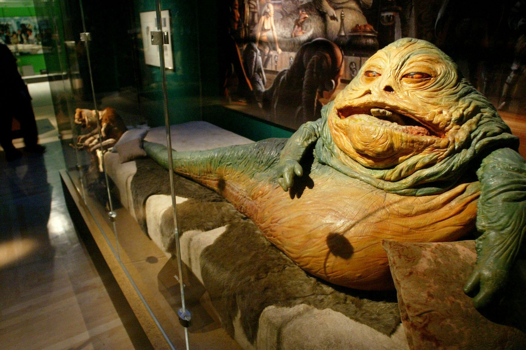 Jabba the Hutt, another Star Wars character who Freeborn helped bring to life.
