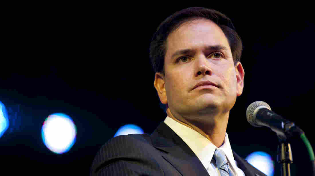 Sen. Marco Rubio, shown in November, has been chosen to deliver the GOP response to President Obama's State of the Union address on Tuesday.