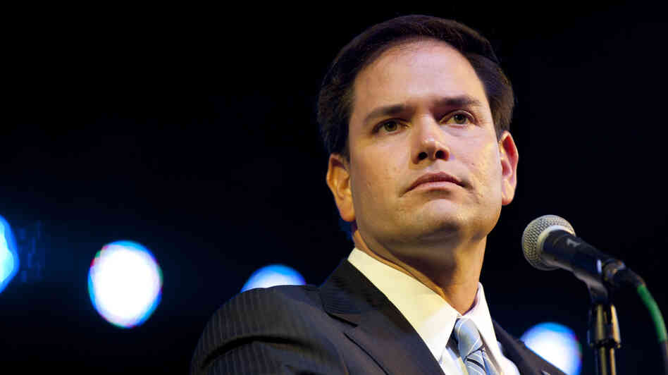Sen. Marco Rubio, shown in November, has been chosen to deliver the GOP response to President Obama's State of the Union address on T