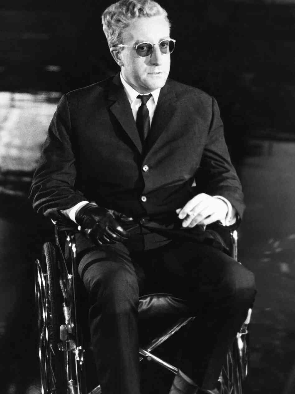 Actor Peter Sellers on the set of Dr. Strangelove. Freeborn's makeup turned Sellers into several characters.