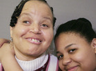 Bonnie Brown with her daughter, Myra, 15. Despite Bonnie's disability, Myra says her mom is everything she needs from a parent.