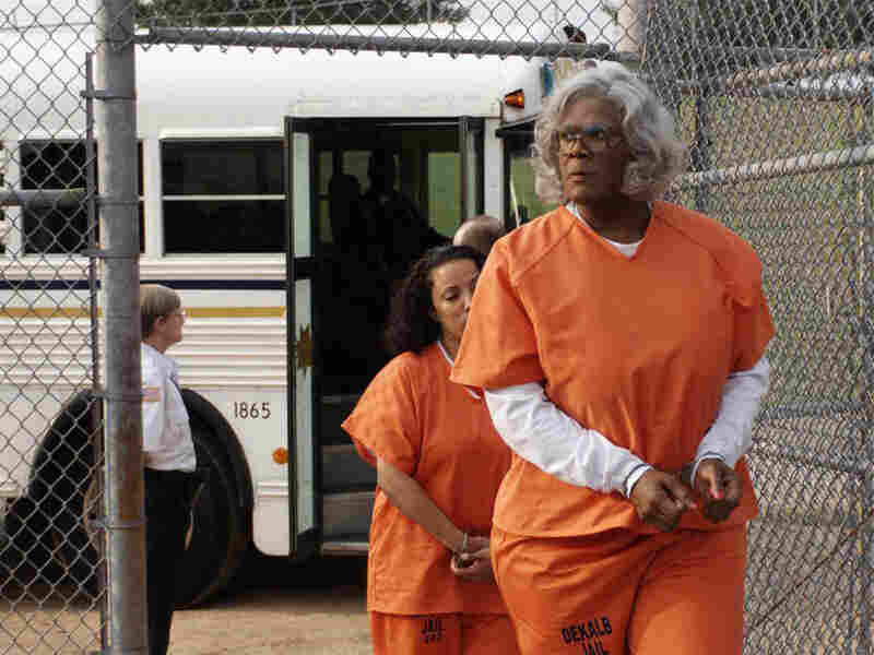 Perry plays a gun-toting grandma in Madea Goes To Jail.
